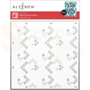 Altenew, stencil Shattered Cubes Builder (2 in 1) ALT6526