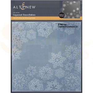Altenew, embossingfolder Layered Snowflakes ALT6530