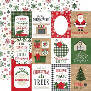 """Echo Park Paper, Jingle all the Way JIN252003, 3x4"""" Journaling Cards"""