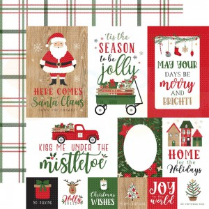 Echo Park Paper, Jingle all the Way JIN2526, Journing Cards