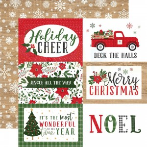 """Echo Park Paper, Jingle all the Way JIN25210. 6x4"""" Journaling Cards"""