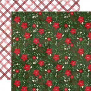 Echo Park Paper, Jingle all the Way JIN25211, Festive Floral