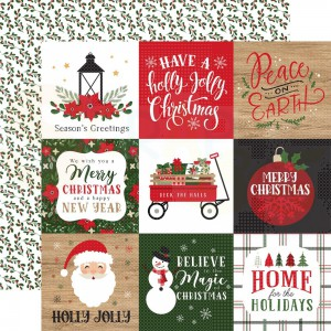 """Echo Park Paper, Jingle all the Way JIN25212, 4x4"""" Journaling Cards"""