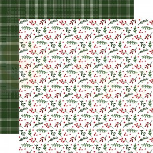 Echo Park Paper, Jingle all the Way JIN25213, Holly Berry