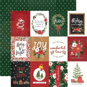 "Carta Bella, Happy Christmas CBXM1403, 3x4"" Journaling Cards"