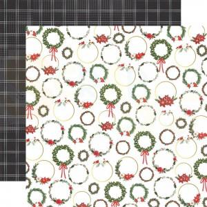 Carta Bella, Happy Christmas CBXM14011, Christmas Wreaths