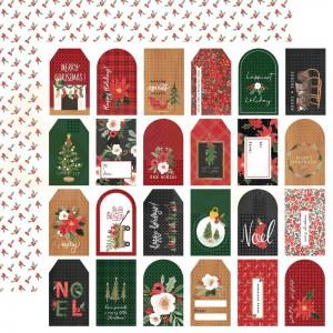 Carta Bella, Happy Christmas CBXM140012, Gift tags
