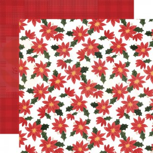 Carta Bella, Happy Christmas CBXM140013, Popping Poinsettias