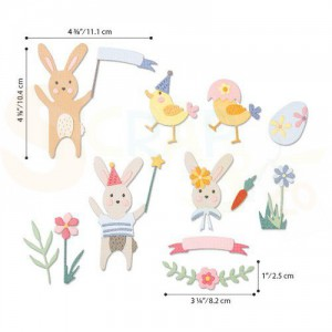 Sizzix Thinlits Die set, Easter Celebration 664357