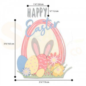 Sizzix Thinlits Die set, Easter Sentiments 664373