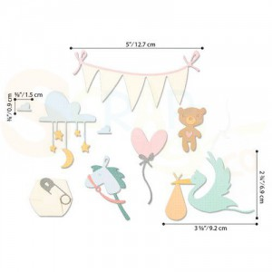Sizzix Thinlits Die set, Lullaby 664399