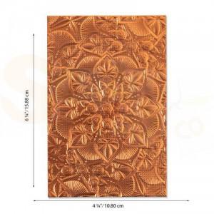 Sizzix, 3D Texture Impressions Embossing folder, Floral Mandala 664405