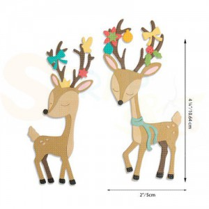 Sizzix Thinlits Die Set, Christmas Deer 664448