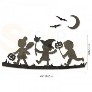 Sizzix Thinlits Die Set, Halloween silhouettes 664588