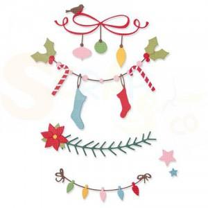 Sizzix Thinlits Die Set, Christmas Borders 664701