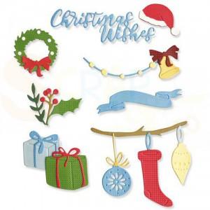 Sizzix Thinlits Die Set, Christmas Decorations 664702