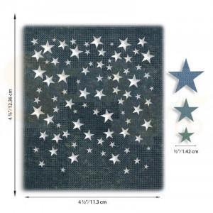 Sizzix Thinlits Die Set, Falling Stars 664732