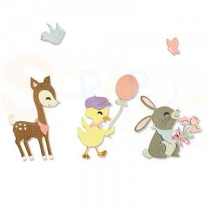 Sizzix Thinlits Die Set, Baby Animals 665070