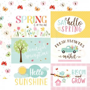 Echo Park Paper, Welcome Spring WES235004, 6x4 Journaling cards