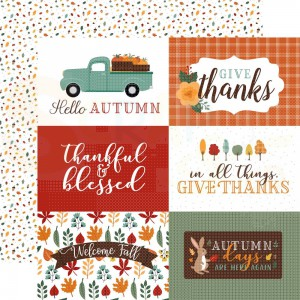 Echo Park Paper, Happy Fall HAP219 10, Journaling cards 6x4