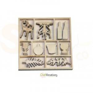 Houten figuren in box, romantic provence 811500/0191