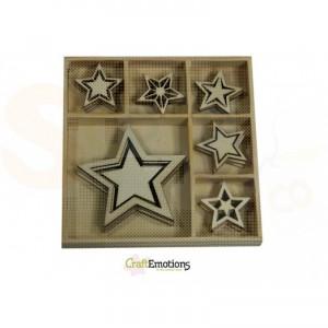 Houten figuren in box, sterren 811500/0332