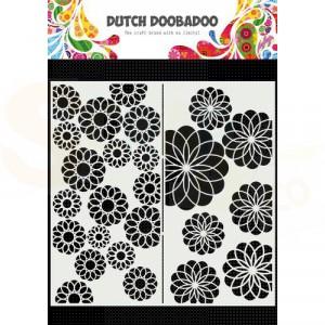 470.715.823 Dutch Doobadoo Mask Art Slimline, Bloemen