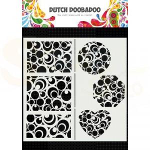 470.715.825 Dutch Doobadoo Mask Art Slimline, Cirkels
