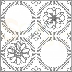 S-00086 flower design frame