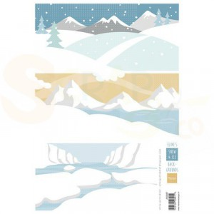 Marianne Design, knipvel Eline's Achtergrond sneeuw en ijs AK0087