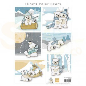 Marianne Design, knipvel Eline's Achtergrond ijsberen AK0088
