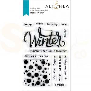 Altenew, clearstamp Hello Winter ALT3543
