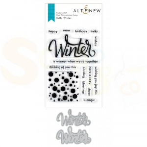 Altenew, stamp & die bundle, Hello Winter ALT3545