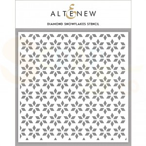 Altenew, Stencil, Diamond snowflakes ALT3578