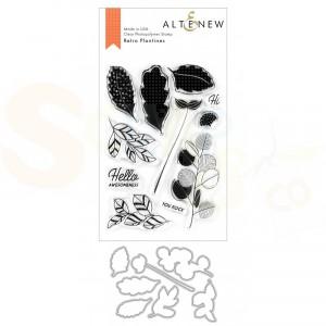 Altenew, stamp & die, Retro Plantines ALT3769
