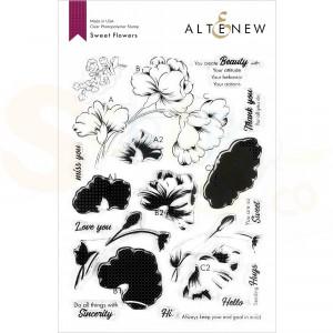 Altenew, clearstamp Sweet Flowers ALT4534