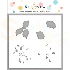 Altenew, Simple Coloring Stencil Queen Anemone ALT4841