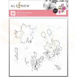 Altenew, Stencil Bitterroot Flower Layering (3 in 1) ALT6111