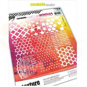 Carabelle Studio, Art printing, carré 9 squares textures APCA0026