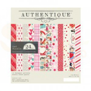 """Paperpad Authentique, 6x6"""", Lovestruck LVS010"""
