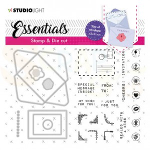 Studiolight, Stamp & Cutting die Rectangular Envelope BASICSDC55