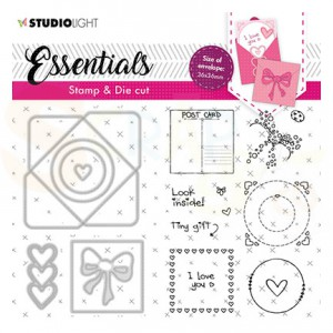 Studiolight, Stamp & Cutting die Square envelope BASICSDC56