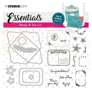 Studiolight, Stamp & Cutting die Rectangular fancy envelope BASICSDC57