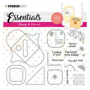 Studiolight, Stamp & Cutting die Square fancy envelope BASICSDC58