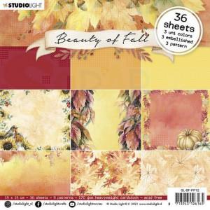 StudioLight, Beauty of Fall Paperpad 15x15 cm, SL-BF-PP12
