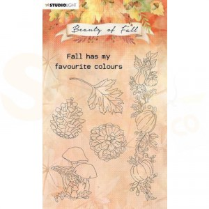 StudioLight, Beauty of Fall clearstamp, SL-BF-STAMP62