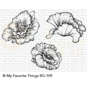 BG-109 My Favorite Things background stamp, BG Poppy Blooms