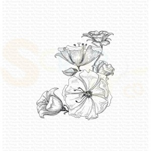 BG-118,  My Favorite Things background stamp, Floral Fantasy