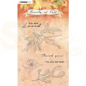 StudioLight, Beauty of Fall clearstamp, SL-BF-STAMP64