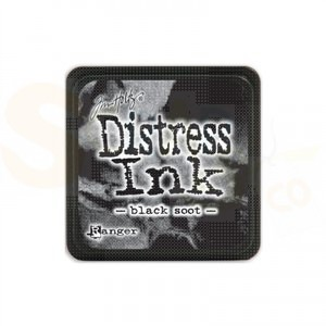 Distress mini ink pad Black Soot TIM19541